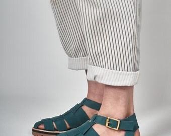 Woven Sandal - Teal