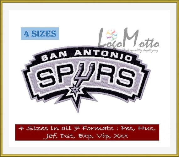 San Antonio Spurs Embroidery Designs Multiformat By Mottologos