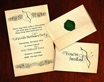 Princess Merida Birthday Invitations