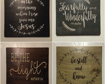 Christian Biblical Custom Wooden Signs