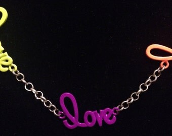 Multi colored Love necklace