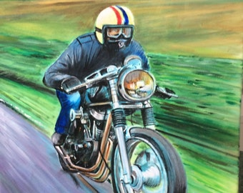 Handpainted motorcycle art