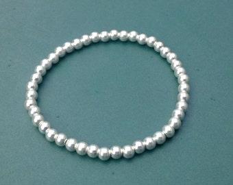 Sterling Silver Bracelet - Bead Bracelet - Stacking Bracelet - Christmas Gift - Gift For Her - Stack Bracelet - Silver Jewellery -