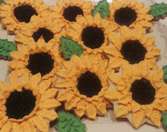 Set of sunflowers cookies