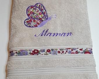Hand towel 50/100 embroidered custom MOM