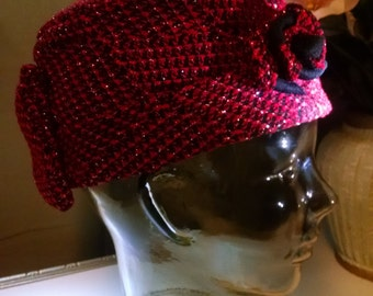 Fabric hat, Downton Abbey style hat, Ladies hat