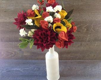 Fall Flower Arrangement, Fall bouquet, Wedding Flower bouquet, artificial flower arrangement, fake flower arrangement