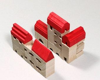 Wooden building blocks bricks wooden
