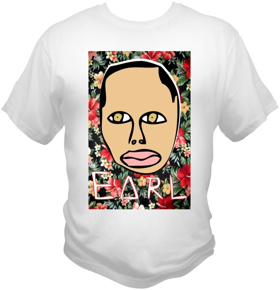 Earl Sweatshirt T-SHIRT Golf Wang, Odd Future, Frank Ocean, Tyler The Creator,  Hawaiian Floral Print Theme