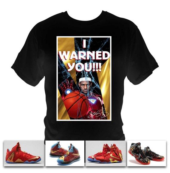 Lebron James Ironman black T-Shirt made to match Nike Lebron Iron man shoe series