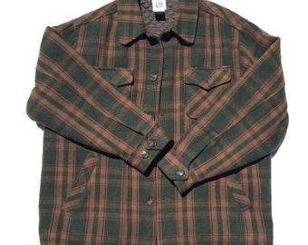 Vintage Gap Flannel Jacket Lined Medium