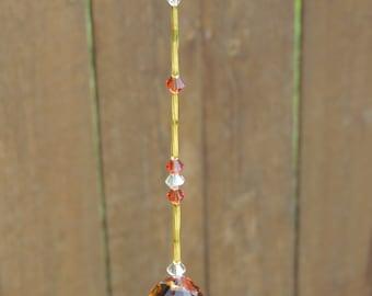 Amber crystal sun catcher