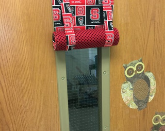ROMAN SHADE/Curtain for Teacher Classroom Door - Privacy/Safety/Locknown - NC State Wolfpack