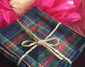 Plaid Flannel Cloth Diaper Wipes