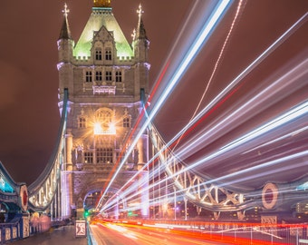 Tower Bridge London photo print - FREE SHIPPING - Limited Edition - Cityscape - Fine Art Print