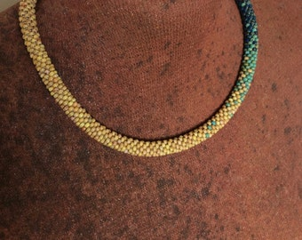 Yellow, Turquoise & Cobalt Picasso necklace
