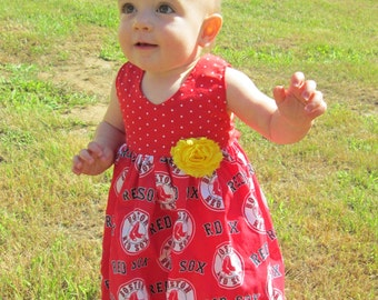 Girls Boston Red Sox Dress sizes 3 months to size 5