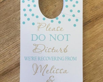 Door Hanger Wedding