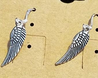 Small angel wings earrings