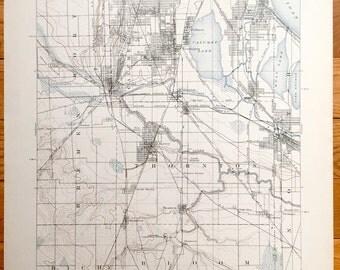 Antique Chicago Illinois 1901 Us Geological Survey Topographic Map Calumet Worth Thornton