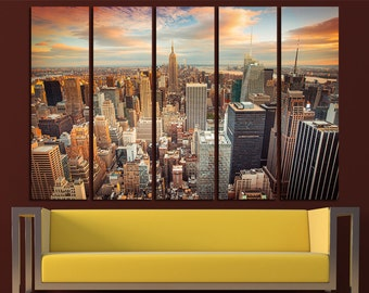 Large New York Canvas Set NYC Wall Art New York Canvas Art NYC Print New York Wall Decor New York Poster New York Photo New York Skyline