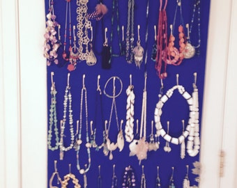 Royal Blue Nookles Over-the-Door Jewelry organizer