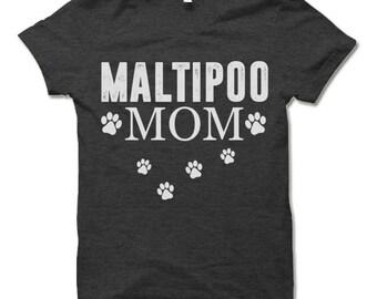 Maltipoo Mom T-Shirt. Dog Owner Gift. Maltipoo Mom Shirt.
