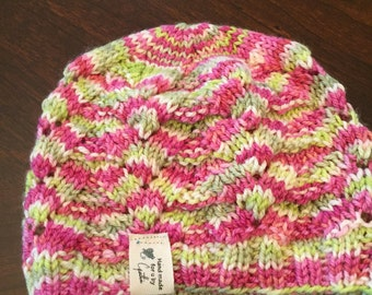baby/ toddler cable & lace beanie