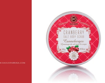 Cranberry Salt Body Scrub