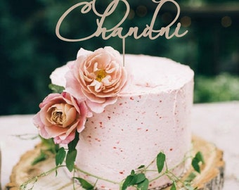 Wedding Custom  Cake Topper Names