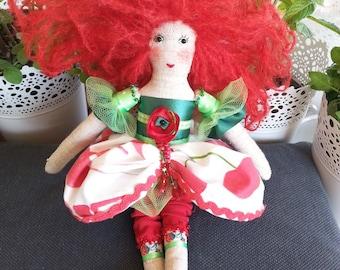 Handmade fabric doll, Amapola