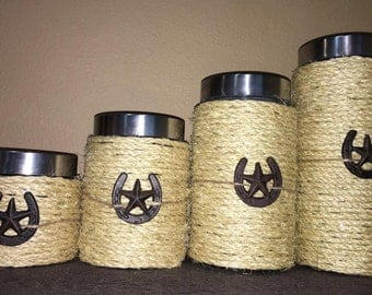 Rustic Kitchen Canisters
