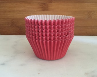 Solid Red BakeBright Cupcake Liners, Taller Sized, Baking Cups (30)
