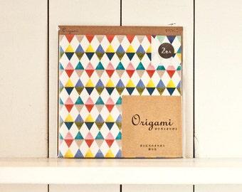 Midori origami paper, Paper folding, Scrapbook paper pack, Origami paper sheets, Japan, Origami flags