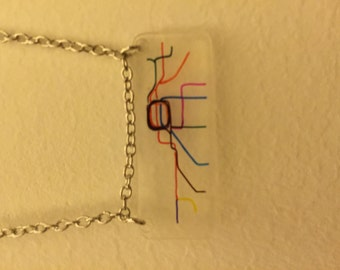 Chicago Transit Map Necklace