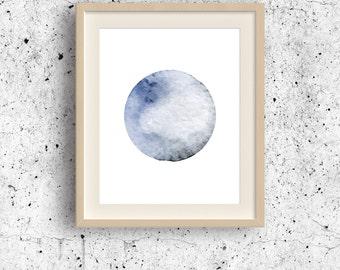 Space art, Pluto Planet art, Astronomy wall art, Planets print, Planet wall decor, Abstract circle, Solar System, Geometric Wall Art