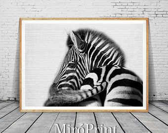 Zebra Print, Safari Animal Decor, Zebra Photo Art, Art Modern Print, Animal Print, Black and White, Animal Decor, Wall Art, Instant Download