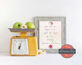 Their Handwriting, Personalized Handwriting Gift, Sentimental Gift for Mom Grandma's Handwriting Handwritten Recipes The Handwriting Shop