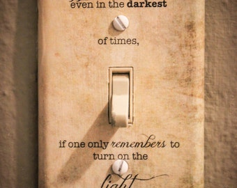 Albus Dumbledore Quote Light Switch Plate Harry Potter