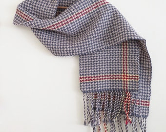Grey Houndstooth scarf