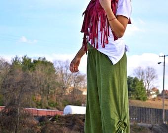 Hemp shorts custom made and hand dyed // organic clothing // eco-friendly // hemp clothing // RUFFLES