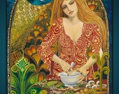 Eir Norse Goddess of Mercy and Healing 5x7 Blank Greeting Card Pagan Witch Gypsy Mythology Goddess Art
