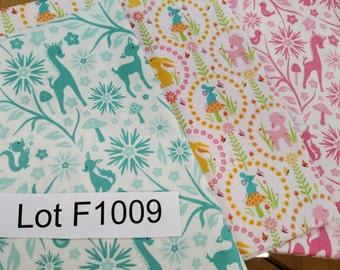 Fabric DESTASH LOT F1009 3 Yards Fabric Woodland Trail by Sheri Berry Designs Riley Blake Baby Kids Quilt Fabric Please Read Description