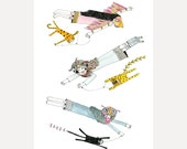 Giclee Print A3+ Limited Edition Signed and Numbered Print Kite Flying