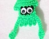 Neon Green Squid Ornament