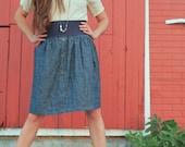 Hemp Denim Snap Skirt