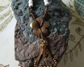 RESERVED FOR SUZANNE G. Gardens Breeze Boho chic vintage necklace