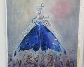 Blue Prayer // Fae / Magical / Fantasy Art Print
