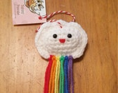 Happy Rainbow Cloud Ornament