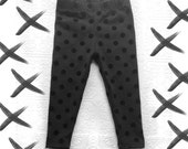 BEST baby kids leggings Black polka dot velvet flocked leggings Supayana